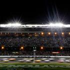 For the first time, the Great American Race was a Monday affair. Rain pushed the start back from Sunday to just after 7 p.m.