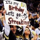 Seen in the stands at Pittsburgh's Consol Energy Center as the hometown Penguins battled the Maple Leafs: a most provocative suggestion.