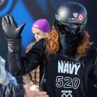 The aliens have landed -- in Aspen, Colorado, of all places. Here's one greeting humans before the Winter X Games men's snowboard superpipe elimination at Buttermilk Mountain.