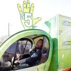 The former New York Giants great was spotted driving a Subway delivery truck in Indianapolis during Super Bowl Week. Guess the broadcasting gig didn't work out.