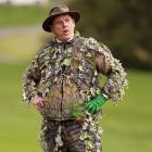 The groundskeeper at Pebble Beach Golf Links, ever vigilant for gophers and authorized to use explosives.