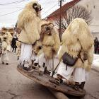 The wearing of fearsome sheep fur and scary wooden masks while parading about town is now part of an annual end of winter festival in southern Hungary, where Ottomans in the 16th century started the tradition in order to scare off Turkish invaders...or at least make them wonder what they'd been smoking.