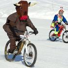 Welcome to this week's installment of  Did You See That? , the photo gallery that makes you see things like this safely and naturally, without the use of harmful, mind-altering drugs. (In case you're questioning your sanity, this is an actual mountain bike snow race in the alpine resort of Villars, Switzerland.)