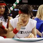 Kobayashi shows his Philly pride with a Liberty Bell themed sleeveless tee.