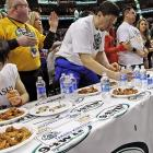 """Kobayashi destroyed the competition in his first Wing Bowl, eating 66 more wings than second-place finisher Jonathan """"Super"""" Squibb."""