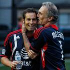 The former New York Cosmos goalie and longtime American soccer notable was a two-time second-team All-American at Harvard. In this 2011 photo, Messing shares a laugh with John Harkes at the MLS Legends Game.