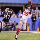 Hakeem Nicks had three catches for 42 yards in the first half and finished with a game-high 10 receptions for 109 yards.