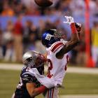 Mario Manningham couldn't pull in this pass, but made amends later.