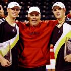 Wayne coached Mike (left) and Bob and was voted the World TeamTennis Coach of the Year for three straight years from 2004-2006. Wayne is also an avid musician, a trait he has passed on to his sons.