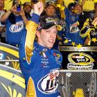 Brad Keselowski clinched the Sprint Cup title at Homestead after five-time Cup champion Jimmie Johnson pulled out of the season-finale race because of a parts failure. The 28-year-old Keselowski claimed the first championship for longtime NASCAR owner Roger Penske and grabbed a title for car manufacturer Dodge, which is leaving the Sprint Cup series after the season. The championship was Keselowski's first-career title.