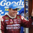 After an accident created by Clint Bowyer with two laps remaining took out leaders Jeff Gordon and Jimmie Johnson, Ryan Newman snuck past the three-wide wreck and won the Goody's Fast Relief 500 at Martinsville Speedway. The victory was Newman's first in 23 races and his first-career checkered flag at Martinsville.