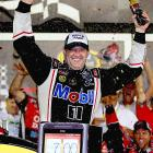 "Tony Stewart qualified second, but an illegal modification bumped him to 42nd. No matter as ""Smoke"" passed Daytona 500 winner Matt Kenseth on the final lap to win the July race at Daytona for the fourth time in his career. The victory was Stewart's third of the season and the 47th of his career."