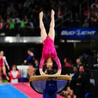 Alexandra Raisman received a 16.100 for this performance on the vault. It tied Jordyn Wieber for the high score of the day.