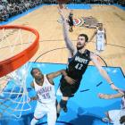 In a record-setting night in Oklahoma City, Timberwolves big man Love posted career marks of 51 points and seven three-pointers, in addition to 14 rebounds, in a 149-140 double-overtime loss to the Thunder. Love's 50-point performance was the third of the season, but it wasn't enough against Oklahoma City's duo of Durant (40) and Westbrook (45), who became the first pair of teammates in NBA history to score at least 40 points twice in the same season (see slides five and 12). Durant also pulled down 17 boards (the second most of his career), while Westbrook dished out six assists.