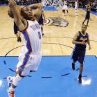 While Durant tallied a career-high 51 points in the overtime win against the Nuggets, Westbrook added 40 points, nine assists and four rebounds while going 11-for-11 from the free-throw line. Westbrook also nailed a three to start the OT period, putting the Thunder up for good.