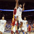 Despite a valiant effort from Iowa State star Royce White, the Cyclones weren't able to get around Marquis Teague and Kentucky. The freshman (pictured) scored a career-high 24 points in helping the team advance to the Sweet 16.