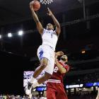 """Looking to avenge its December buzzer-beater loss to Indiana, Kentucky came out swinging in the Sweet 16. The Wildcats handed Indiana a 102-90 loss. """"It was a war and Indiana played great,"""" Kentucky coach John Calipari said. """"We just happened to play a little bit better."""""""