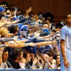In a scene from a recent episode of  The Walking Dead  the Tar Heel forward was pursued by flesh-eating Cameron Crazies during his game vs. Duke in Durham on March 3.   CLICK HERE   to watch the horrifying footage.