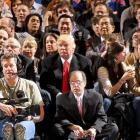 It figures The Donald would be seen at a Bucks game. He's accumulated quite a few during his illustrious business career. In this particular case, the Bucks were playing the Knicks.