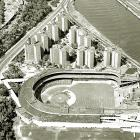 An aerial shot of the Polo Grounds taken during the 1963 season.