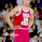 After transferring out of Indiana and battling for his eligibility with former coach Bobby Knight, Lawrence Funderburke ended up at Ohio State, where he played for the Buckeyes from 1991 to '94. He was named third team All-Big Ten three times and averaged 15 points per game.