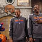 """Stoudemire and Knicks teammate Carmelo Anthony teamed up with Sesame Street on the set of """"Saturday Night Live."""""""