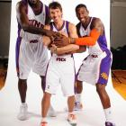 Some media day fun with former teammates Shaq and Steve Nash.