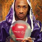 Arenas has a custom boxing glove bowling ball and boxing robe. Right. Who doesn't?