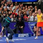 McIlroy won a point off Sharapova.   Here's video.