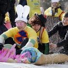 Indeed. Easter is on its way as the winter sports season comes to its inevitable conclusion at the Vetluzhanka ski stadium in the Siberian city of Krasnoyarsk.