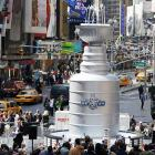 Welcome to another invigorating edition of  Did You See That? , the gallery that asks questions first and shoots photos later. Well, it's NHL playoff time and Lord Stanley's hallowed punch bowl (isn't hockey, after all, just one big punch bowl?) looms large over the sporting landscape, especially in New York City where the Rangers are expected to make a run at the chalice. This particular Cup in Times Square is 21 feet high, weighs 6,600 pounds, and is modeled after the shotglass used by Snooki in the hit series  Jersey Shore .