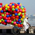 Cycling and ballooning are on the rise in Hyderabad.