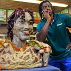 The Redskins were understandably shocked to learn that they'd actually drafted a Subway statue that contains over 300 pieces of chicken with garlic for teeth and dried chilli peppers for hair.
