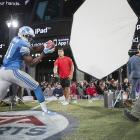 Detroit Lions wide receiver Calvin Johnson will grace the cover of Madden NFL 13 after winning Electronic Arts' fan poll. But can he survive the   Madden cover curse   that has plagued previous winners? Johnson is coming off a stellar season in which he caught 96 passes for 1,681 yards and 16 touchdowns, but we're already a little nervous about his ability to repeat the feat following recent comments that indicate he'd rather see fewer balls thrown his way as the Lions move toward a more balanced rushing-passing attack. Less Megatron? Megabummer. Madden NFL 13 is scheduled for an August 28 release on the Xbox 360 and PS3.