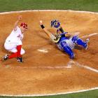 The Kansas City Royals and Los Angeles Angels battle in the first matchup of the teams' three-game series. The Angels held Albert Pujols hitless and won 5-0.