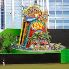 The centerpiece of the $515 million Marlins Park is a 73-foot-tall kaleidoscopic sculpture that will launch into animation when a Miami player hits a home run.