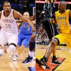 With one Lakers game left, Durant (28.03 points per game) led Bryant (27.86). Durant finished his season with 32 points in a loss to the Nuggets on Wednesday. Bryant would've needed 38 against the Kings -- a team he had scored 29 and 38 points against in two games that season -- but he decided to sit out and rest for the playoffs. Durant became the first player since Michael Jordan (1995-98) to win three straight scoring titles.