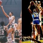 The closest scoring race came when Gervin (27.22) edged Thompson (27.15) during the 1977-78 season. Of course, it came down to the final day -- April 9, 1978. Gervin took a slim lead into their finales, with Thompson playing first. Thompson scored 32 points in the first quarter against the Pistons, an NBA record. He had 53 at halftime and 73 at the buzzer. Only Wilt Chamberlain had scored more points in a game. Gervin would need 58 points against the Jazz later that night. The Iceman, too, came out firing with 20 points in the first and 33 more in the second. Thompson's record was gone in a matter of hours. Gervin finished with 63 to win a wild scoring race.