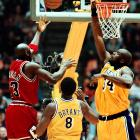"""O'Neal also came up short the previous season. Michael Jordan's record 10th and final scoring crown was his closest -- 28.74 to 28.32 over Shaq. After Jordan finished his season with a 44-point effort, it came down to the Lakers' finale. O'Neal needed 59 points. He scored 33. """"I've already won a scoring title,"""" O'Neal told the <italics>Associated Press </italics>after falling short. """"I want that jewelry. That's all I want."""" He wouldn't get it. Jordan's Bulls won their sixth championship that season."""