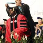 That's Dr. Shaq to you. The former hoops star was crowned with a PhD in Education from Barry University -- which we assume was founded by noted humorist Dave Barry -- in Miami, Florida.