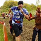 """Call it  The Running Dead . In Amesbury, Massachusetts, contestants navigated man-made and natural obstacles while being pursued by zombies that attempted to remove the """"health"""" flags from their belts and, we assume, eat them."""