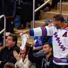 Facing a do-or-die Game 7 against the Washington Capitals in their Eastern Conference semifinal series, the New York Rangers apparently signed the former New York Giant and current Subway hero.