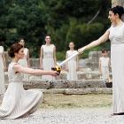 Let the barbecue begin! Priestesses performed the ancient ceremony in Olympia, Greece on May 10.