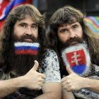 Now  those  are playoff beards, not the wispy attempts you see in NHL rinks. These beauties were on display in Bratislava while Slovakia was tussling with Russia in the World Championship final on May 20.