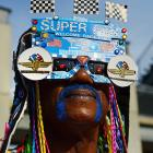 Indy fan in the infield before the start of the 2012 Indianapolis 500.