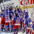 Streamers came pouring down from the top of Madison Square Garden after the New York Rangers beat the Washington Capitals in Game 7 of their second-round playoff series. The Rangers advanced to face the New Jersey Devils in the Eastern Conference finals.