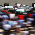 Michael Schumacher zooms around the course during qualifying for the Monaco Formula One Grand Prix.