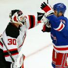 """Rangers superpest Sean Avery and Devils goaltender Martin Brodeur turned a growing mutual dislike into their own outright rivalry. During a Rangers power play in Game 3, Avery parked himself in front of the Devils' net and attempted to screen Brodeur by flailing his arms and stick in front of the goalie's face. The NHL quickly enacted the """"Avery Rule"""" outlawing his """"chicken dance"""" tactic. After the Rangers ousted the Devils in six, Brodeur snubbed his antagonist in the handshake line. """"Well, everyone talks about how classy or un-classy I am,"""" Avery told reporters after the game, """"and fatso there just forgot to shake my hand I guess..."""""""