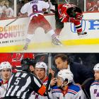 The bitter rivals unexpectedly met after New Jersey ousted Florida and upset Philadelphia, battling through an increasingly contentious series. By Game 3, elbows (New York's Brandon Prust was suspended for throwing one at Anton Volchenkov's head), picks (the Rangers complained that the Devils were getting away with interference) and words (John Tortorella charged the Devils with diving and headhunting, and engaged in a screaming match with Peter DeBoer during Game 4) were flying.