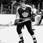 """Drafted by the Kings fourth overall in 1980, Murphy set an NHL record for assists (61) and points (76) by a rookie blueliner and narrowly missed winning the Calder Trophy. In 1982, he was part of the Kings' """"Miracle on Manchester"""" team along with Marcel Dionne, Dave Taylor, Charlie Simmer and Bernie Nicholls that upset Wayne Gretzky's favored Oilers in a five-game first-round playoff series that included a stunning 6-5 OT victory in Game Three after the Kings fell into a 5-0 hole by the end of the second peiiod. Murphy6 played just over three seasons for the Kings before being traded to Washington. His Hall of Fame career included four Stanley Cups (two with Pittsburgh, two with Detroit.)"""
